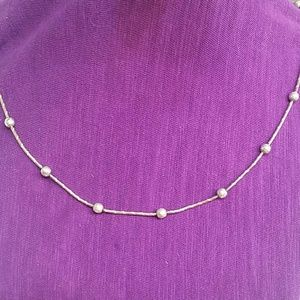 Jewelry - 925 sterling disco ball snake chain necklace!